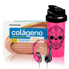 Kit Colágeno Hidrolisado 2 em 1 Verisol 30 Saches 10g + Brindes - Maxinutri