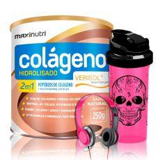Kit Colágeno Hidrolisado Verisol 2 em 1 250g + Brindes - Maxinutri