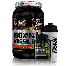 Kit Iso Whey 900g + Bcaa Colt 120 Caps + Coq - Midway Military Trail