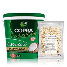 Kit Óleo de Coco Extra Virgem 3,2L + Aveia em Flocos Grossa 1kg - Copra/Esverdeando