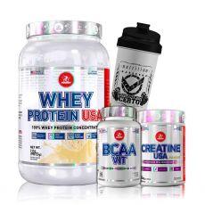 Kit Whey Protein 907g + Creatina Usa + Bcaa Vit + Coq - Midway