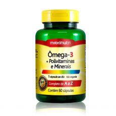 Ômega 3 1g + Polivitaminas e Minerais 60 Caps - Maxinutri