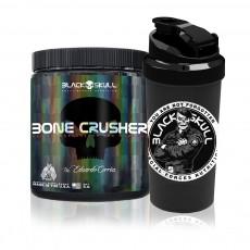 Pre-Treino Bone Crusher 150g - Black Skull + Coq Soldado BOPE