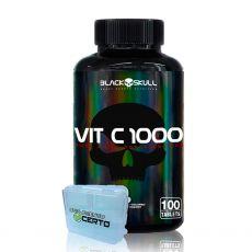 Vitamina C 1000 (100 Tabletes) Vit C- Black Skull Validade Março de 2021