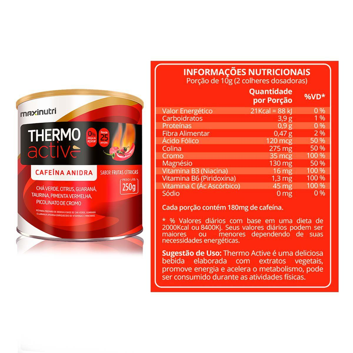 3x Thermo Active 250g - Maxinutri