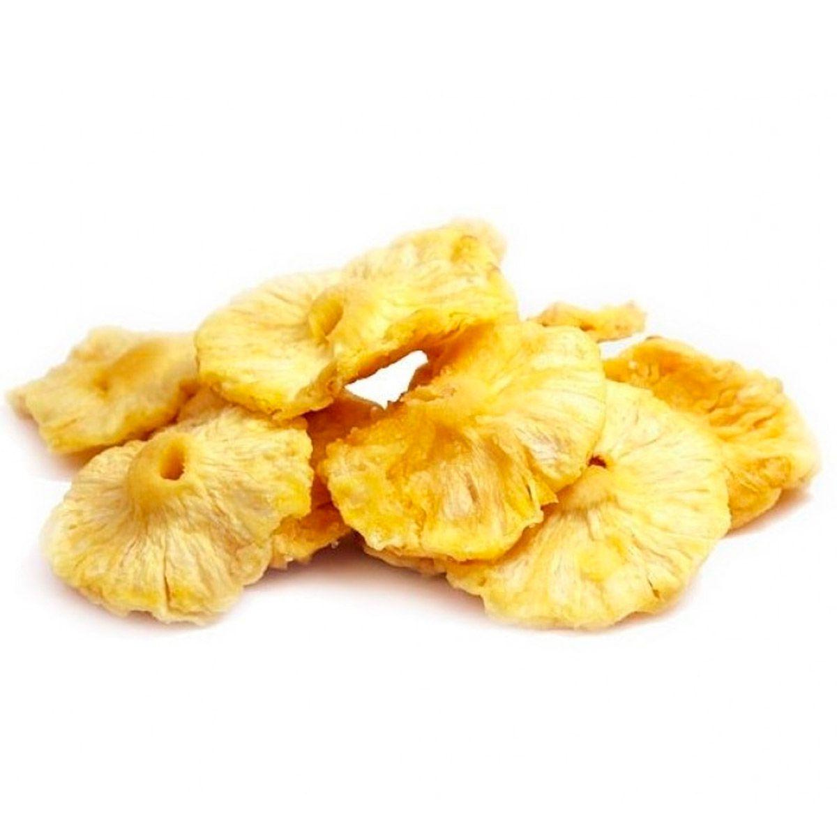 Abacaxi Seco Rodelas (Granel) 1kg  - Esverdeando