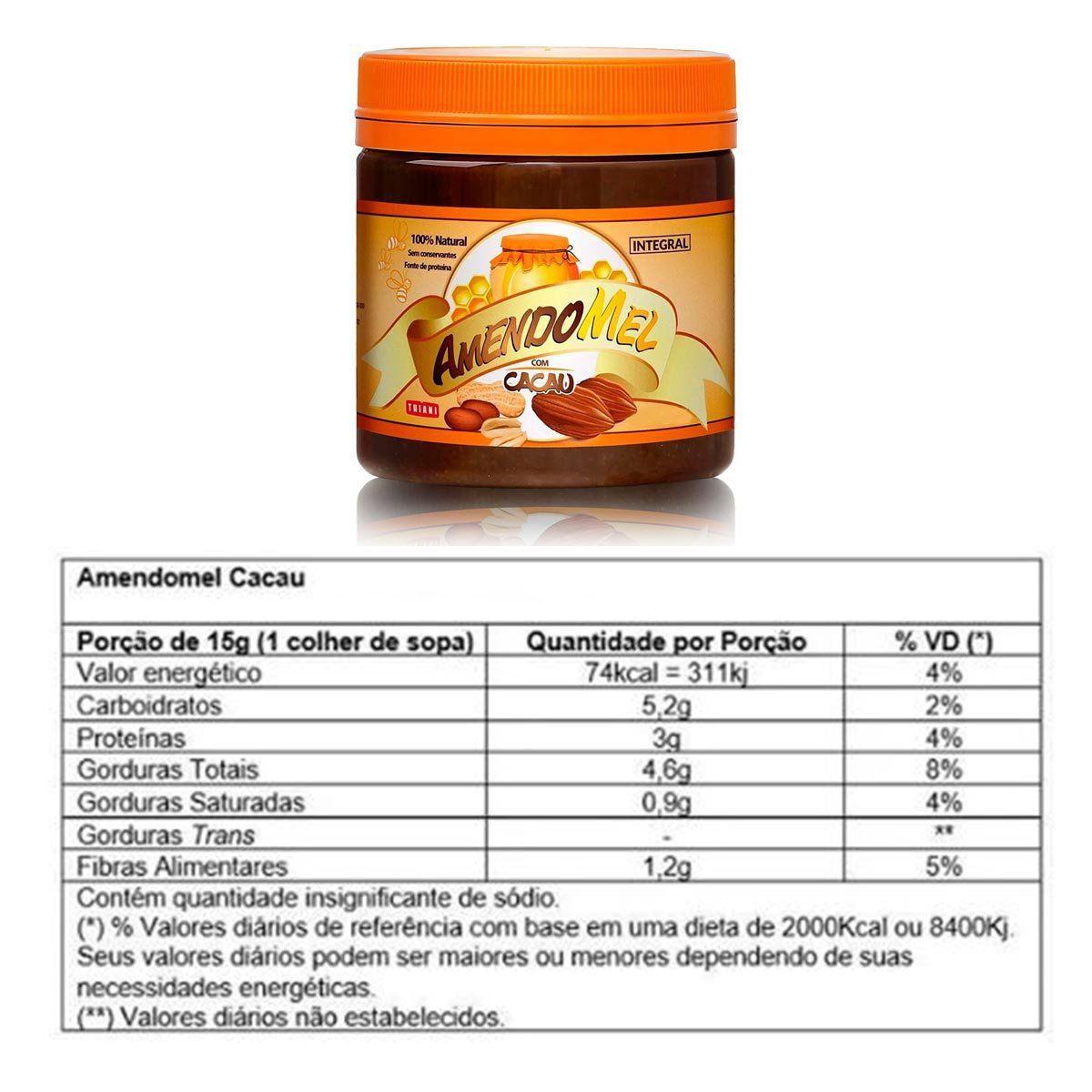 Pasta de Amendoim Amendomel 500g - Thiani Alimentos Sabores