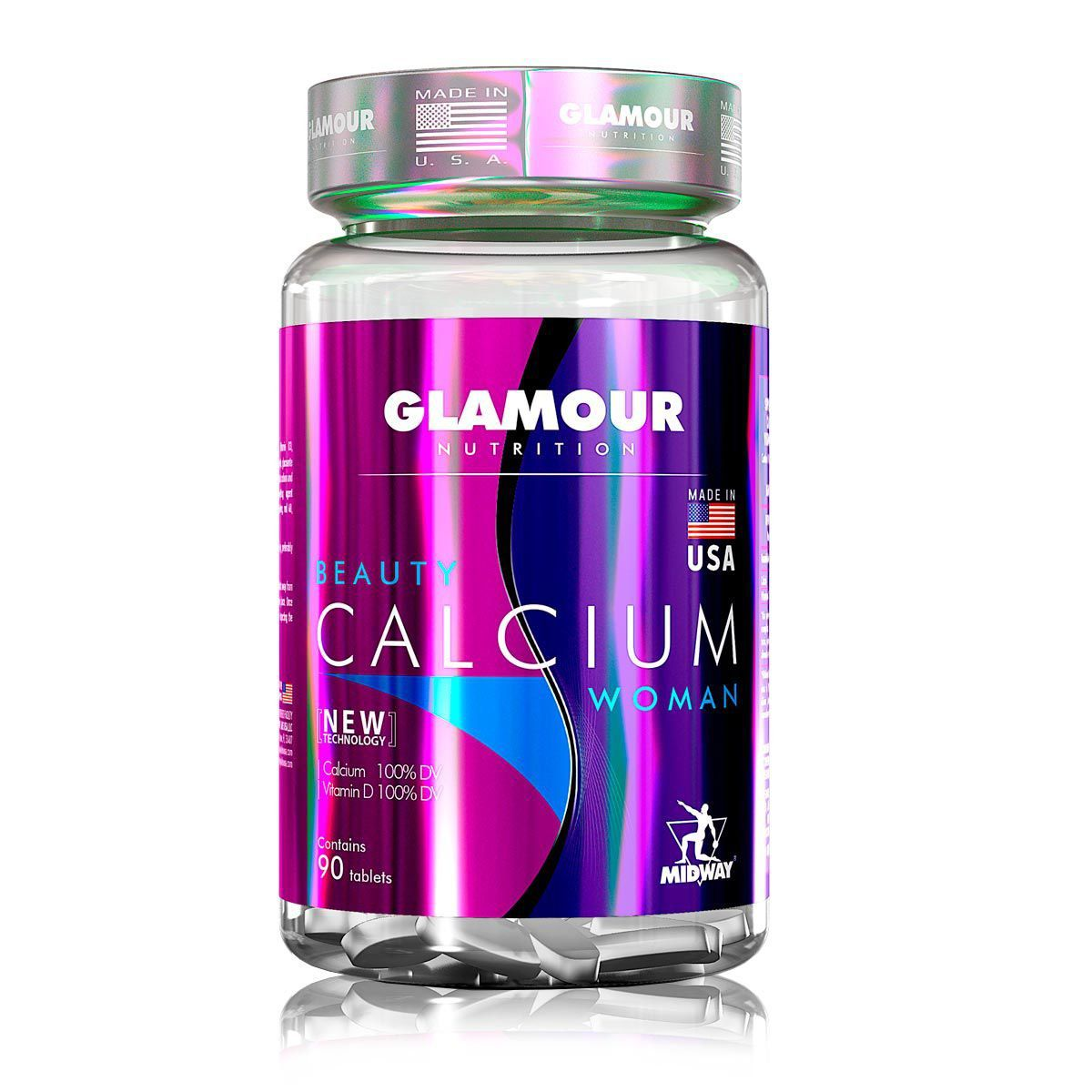 Beauty Calcium Woman 90 Tabs Glamour Nutrition - Midway