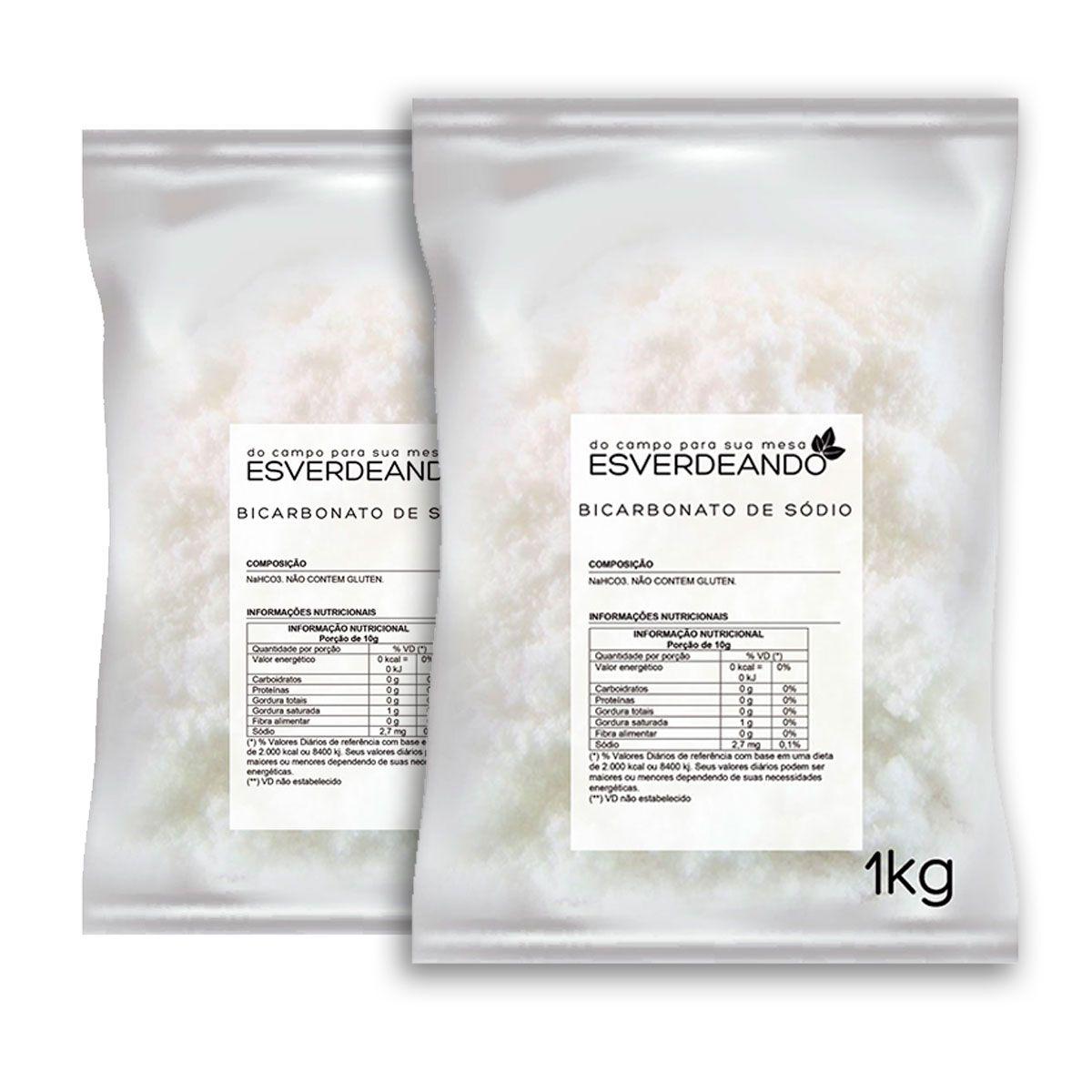Bicarbonato de Sódio 2kg - Esverdeando