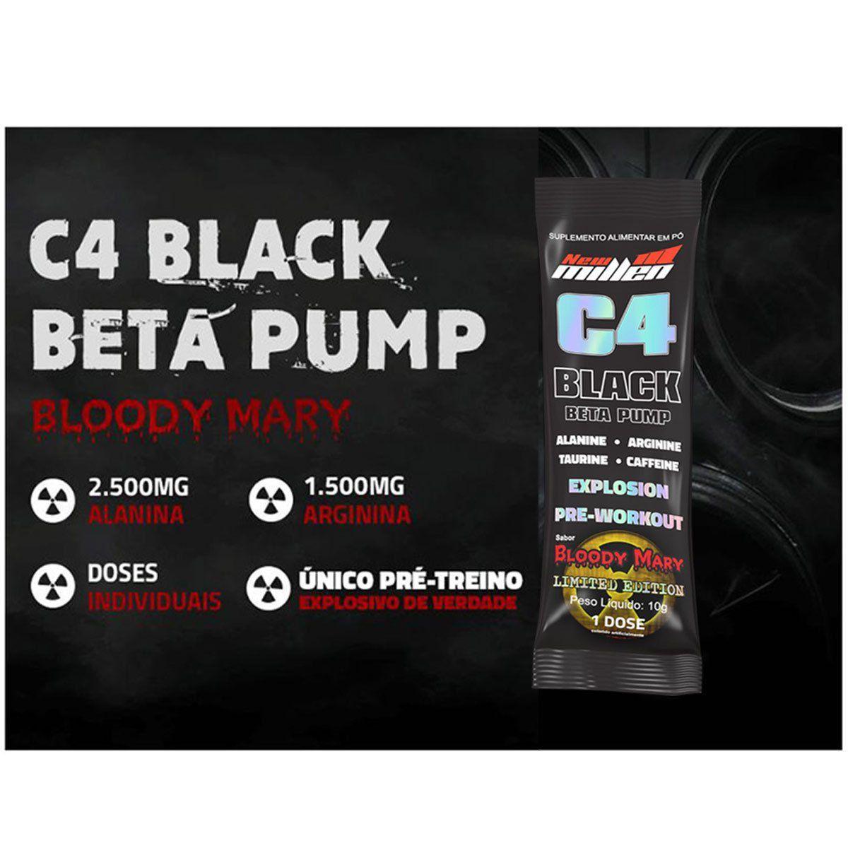 C4 Beta Pump Black Explosion Pré Treino sache 10g - New Millen