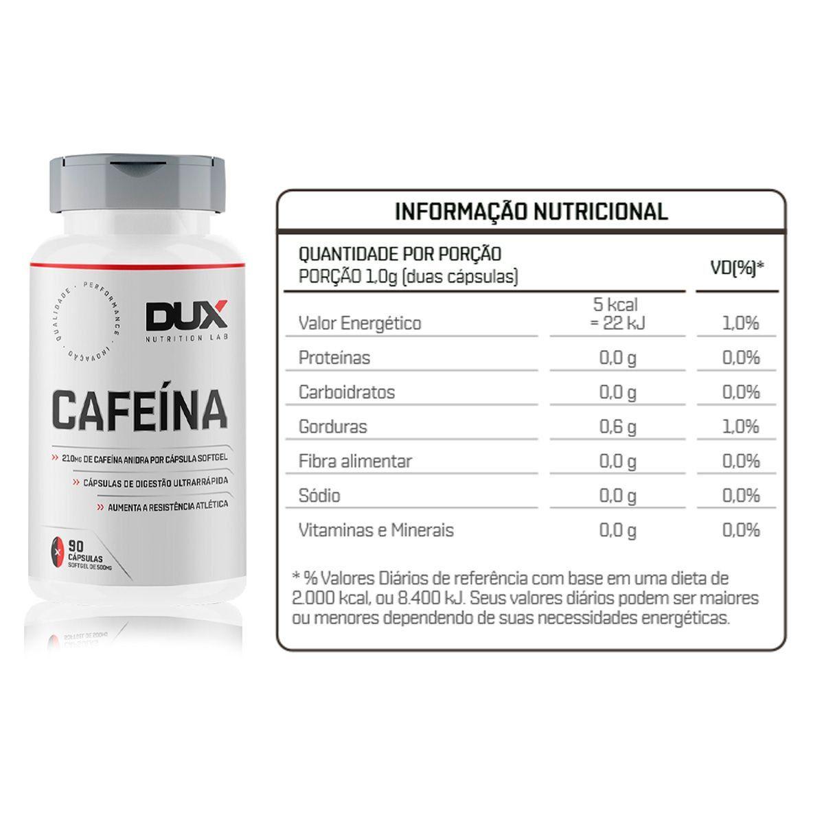 Cafeína 90 Caps - Dux Nutrition