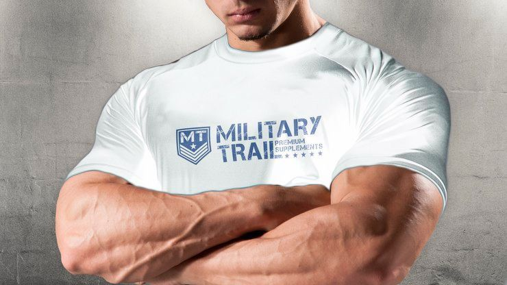 Camiseta Dry Fit Military Trail Branca - Midway