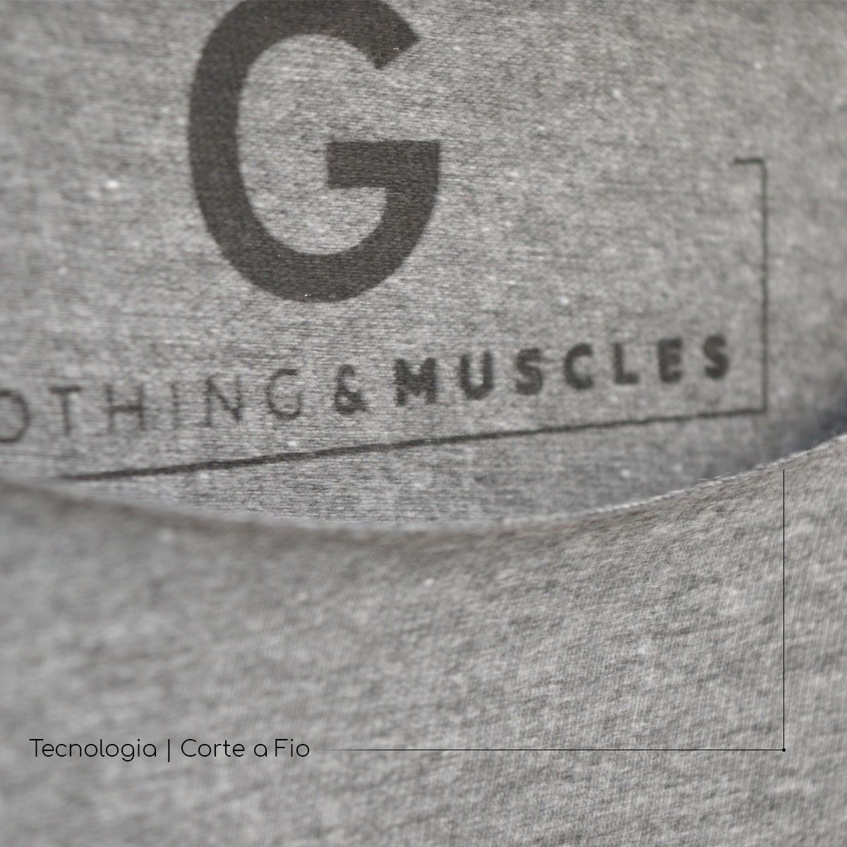 Camiseta Fit Workout Cinza Mescla - SEV7N Clothing Muscles