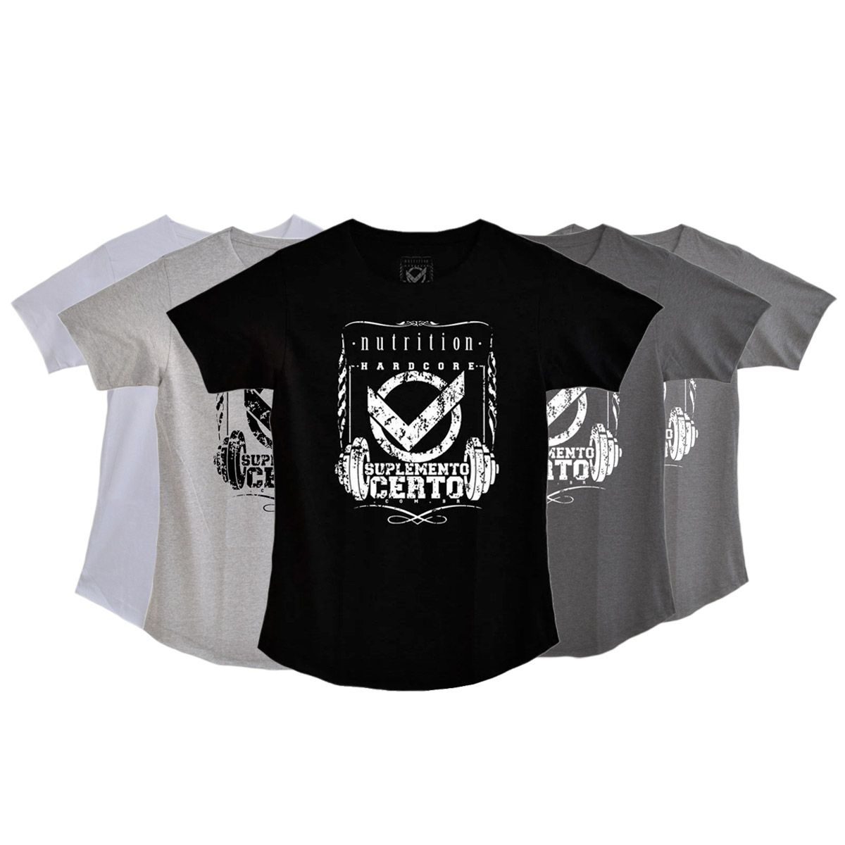 Camiseta Long Hardcore Nutrition - Suplemento Certo