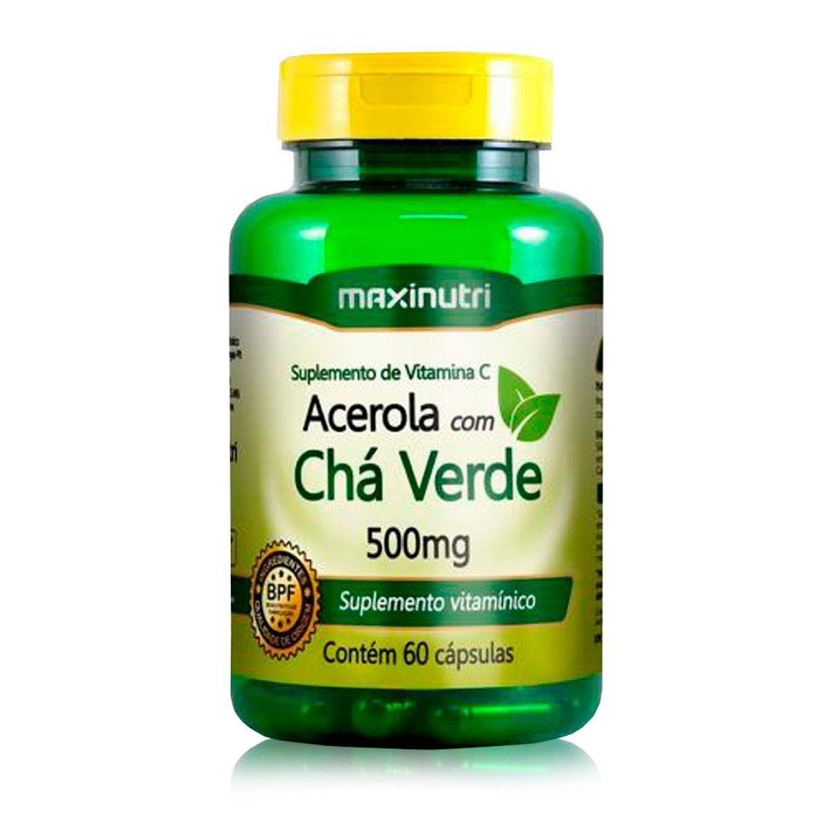 Cha Verde c/ Acerola 60 Caps - Maxinutri