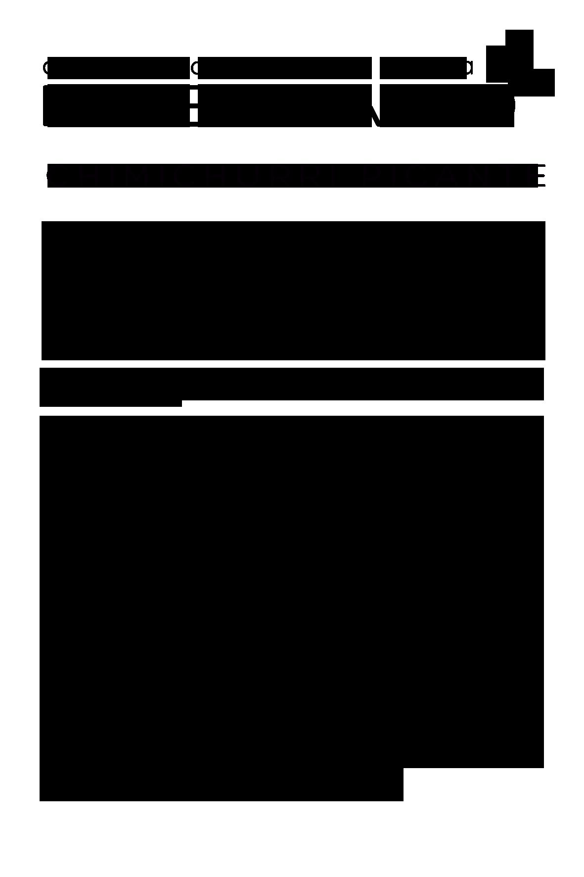 Chimichurri com Pimenta - Esverdeando