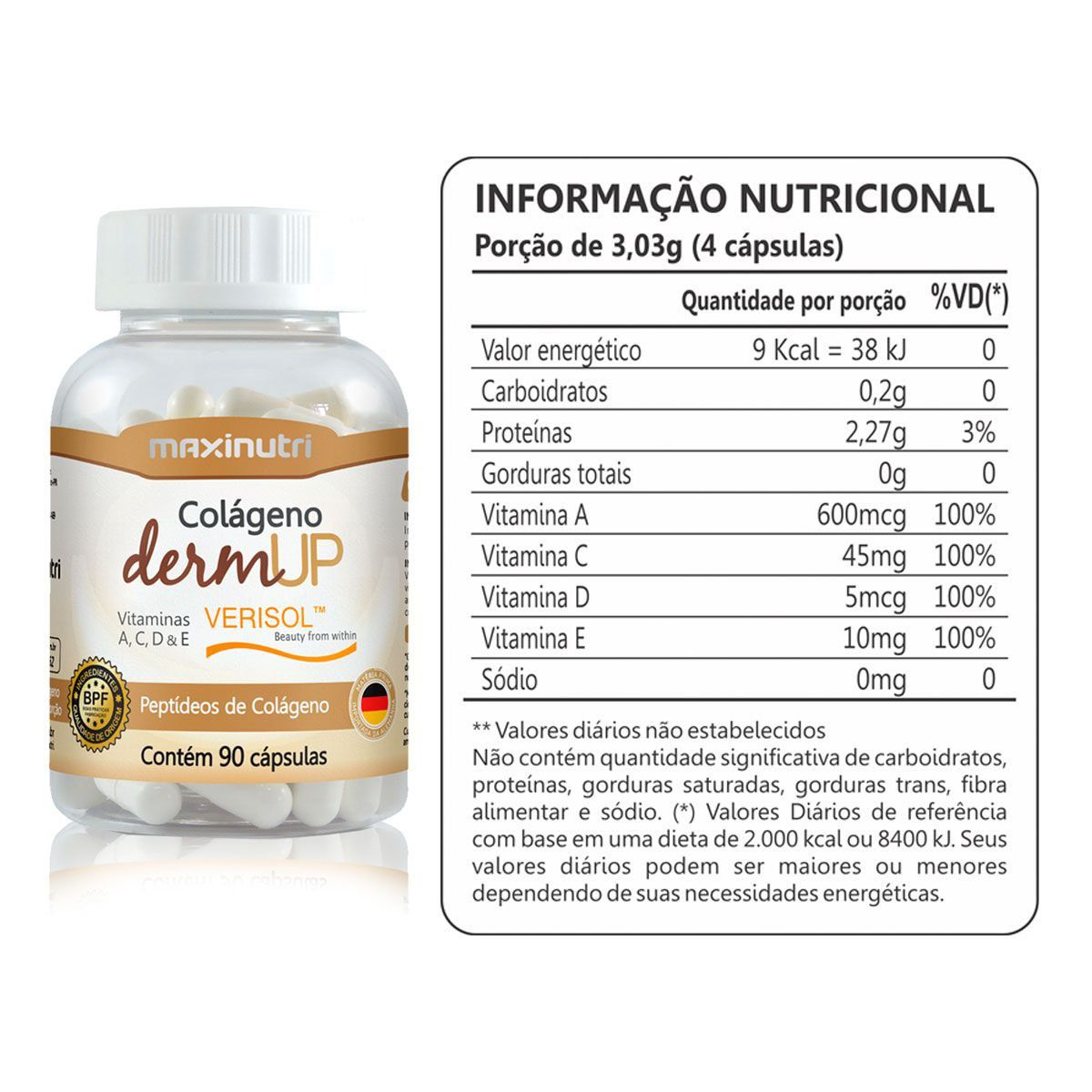 Colageno Dermup Verisol 90 Caps - Maxinutri