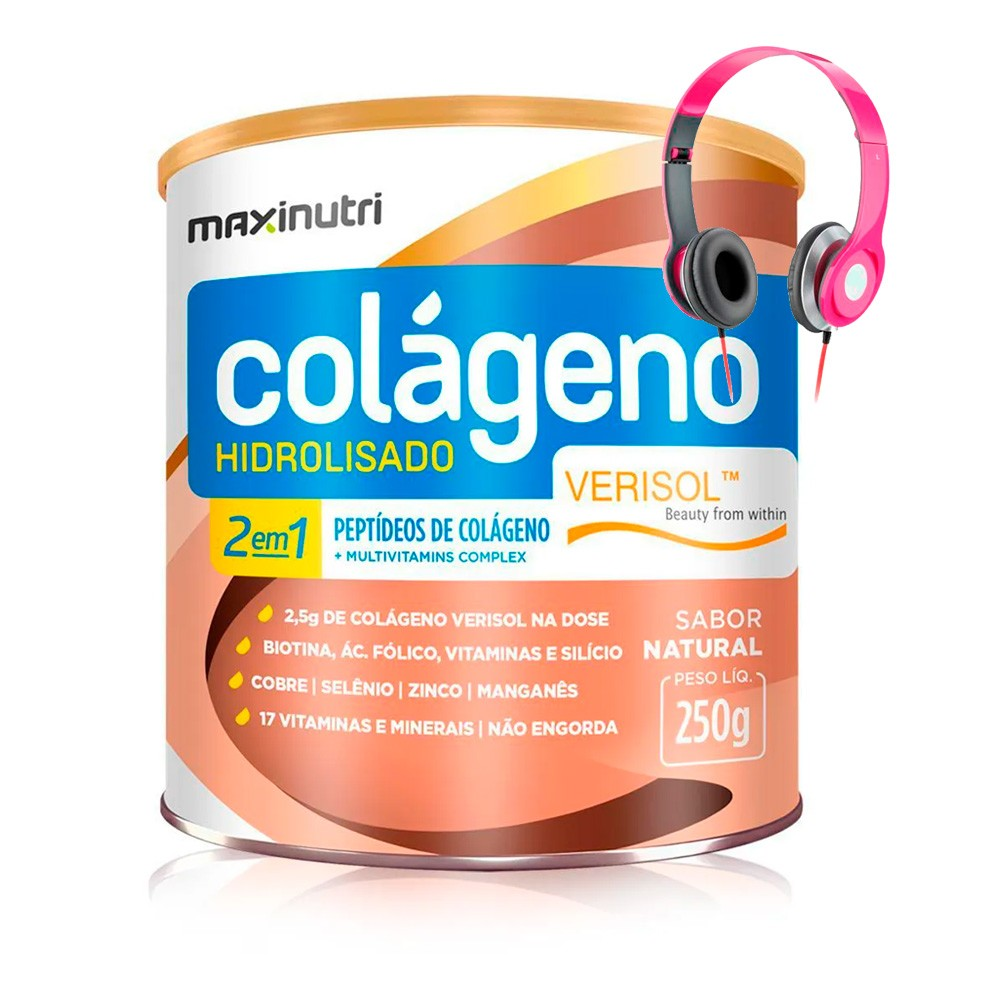 Colágeno Hidrolisado Verisol 2 em 1 250g - Maxinutri