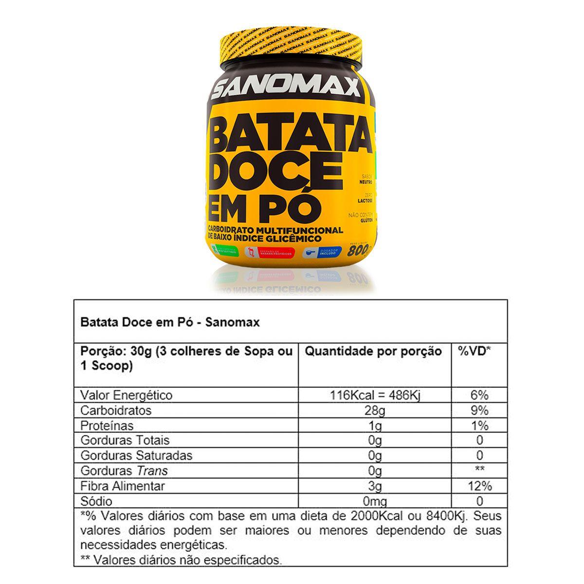 Combo 2x Batata Doce em Po 800g + Coqueteleira - Sanomax