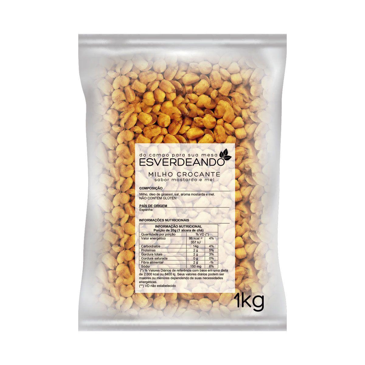 Combo 2x Milho Torrado Mostarda e Mel 1kg - Esverdeando