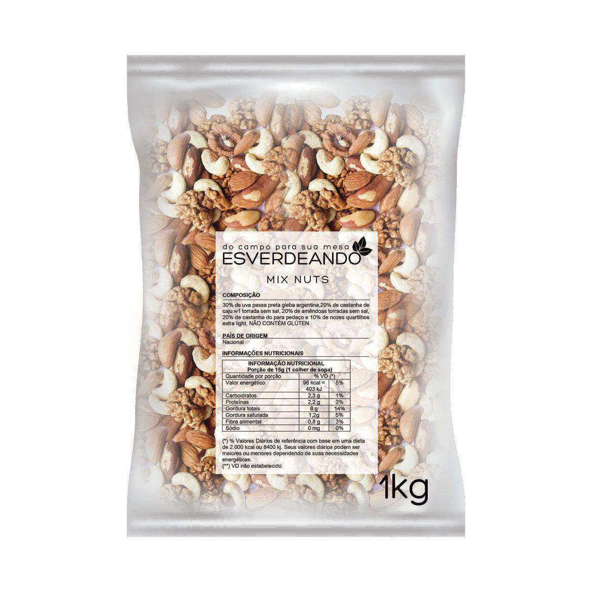 Combo 2x Mix de Nuts 1kg - Esverdeando