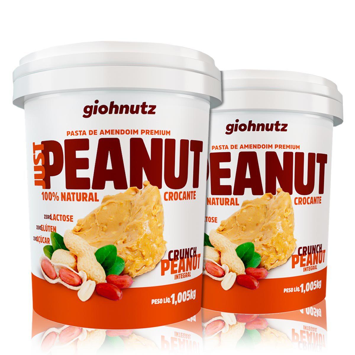 Combo 2x Pastas de Amendoim JustPeanut Crocante 1,005kh - Giohnutz