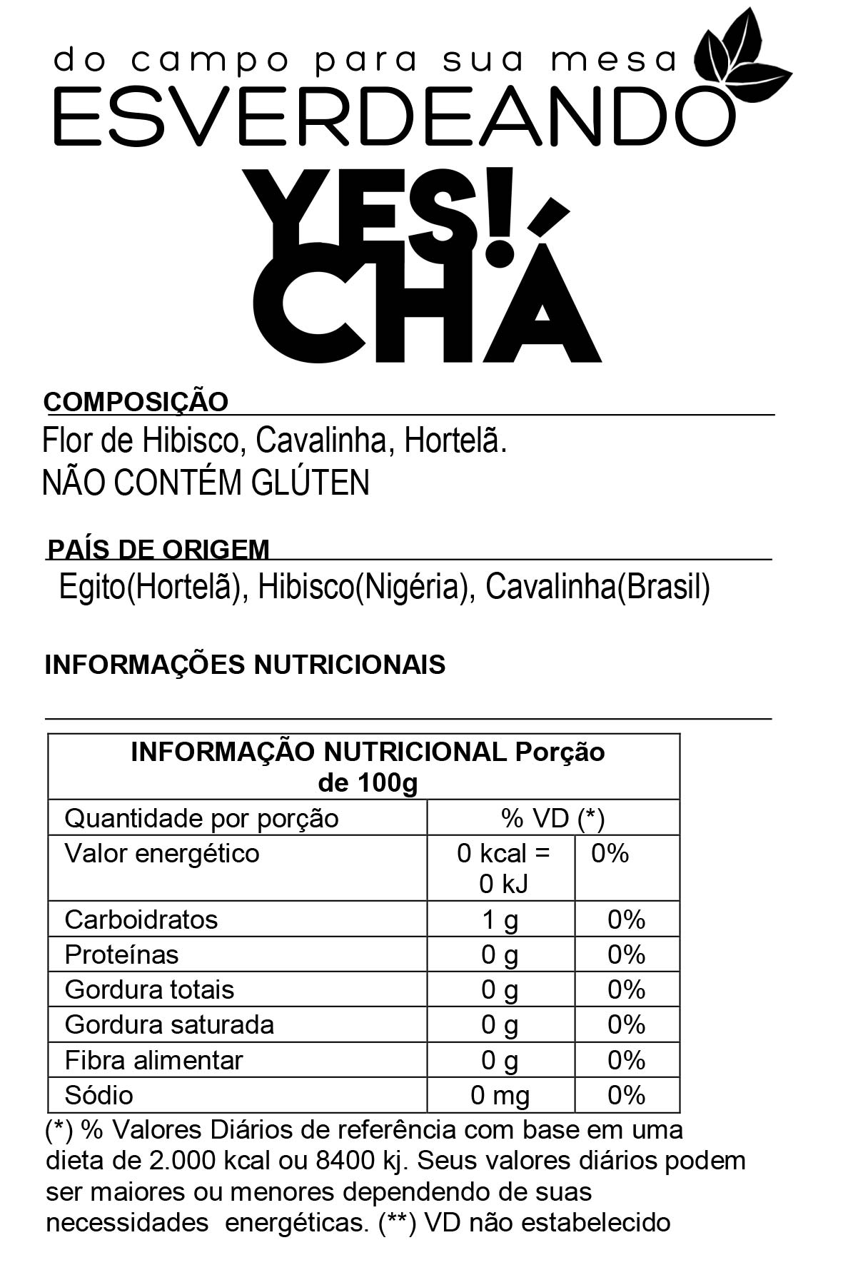 Combo 2x Yes Chá Emagrecedor 300g - Esverdeando