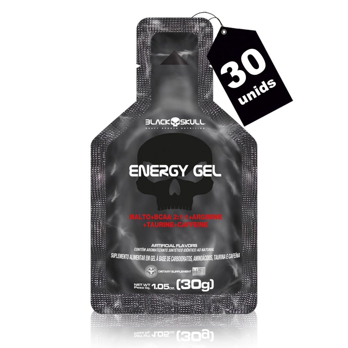 Combo 3x Energy Gel (Caixa com 10 unidades de 30g) - Black Skull