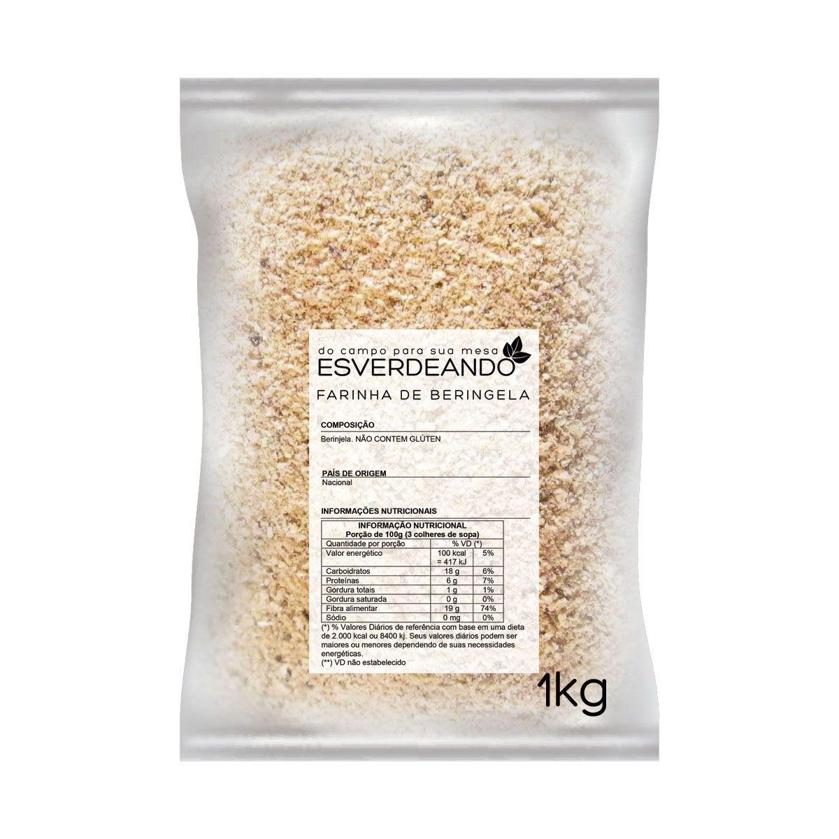 Combo 3x Farinha de Berinjela 1kg - Esverdeando