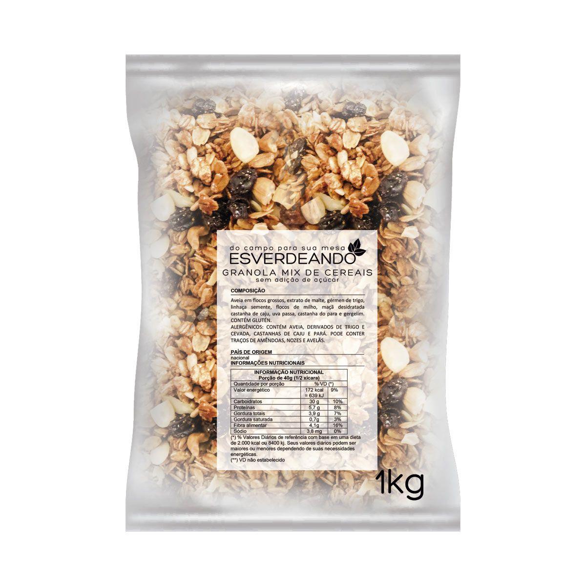 Combo 3x Granola sem Açúcar 1kg - Esverdeando