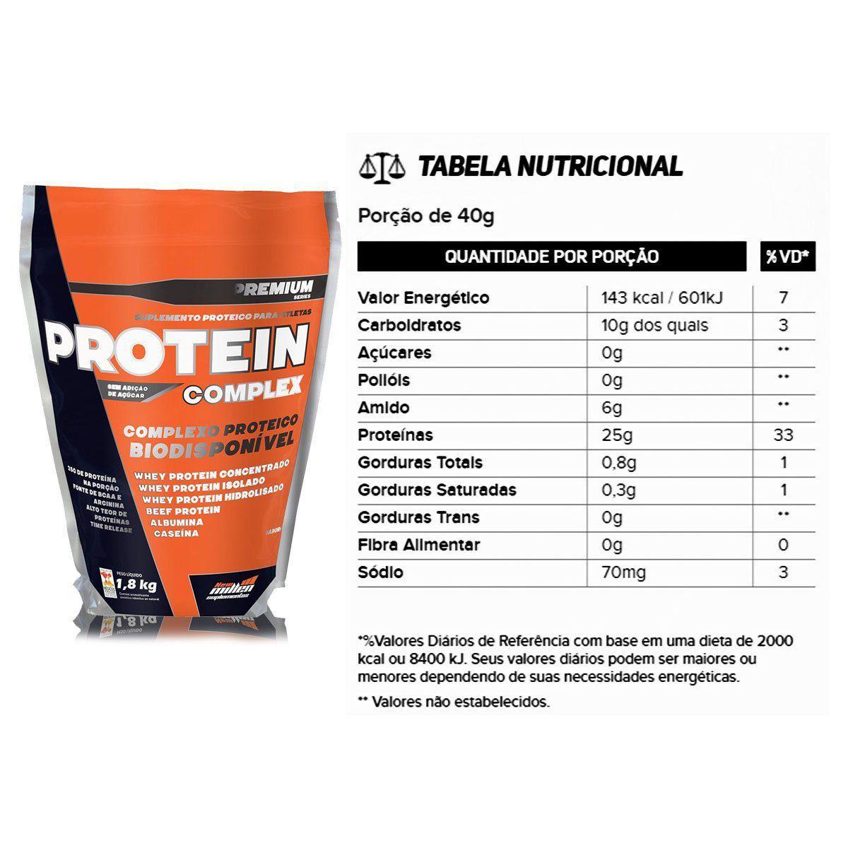 Combo 3x Protein Complex Refil 1,8kg - New Millen