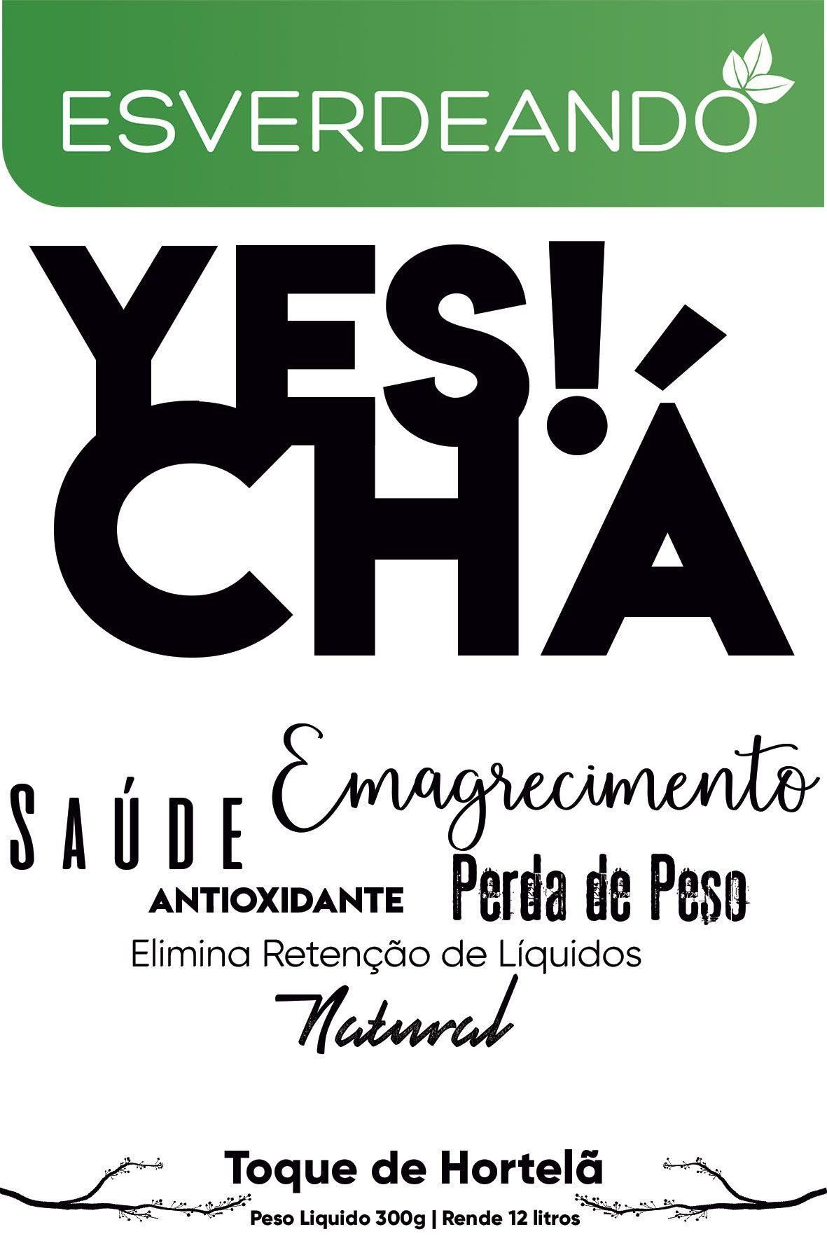 Combo 3x Yes Chá Emagrecedor 300g - Esverdeando
