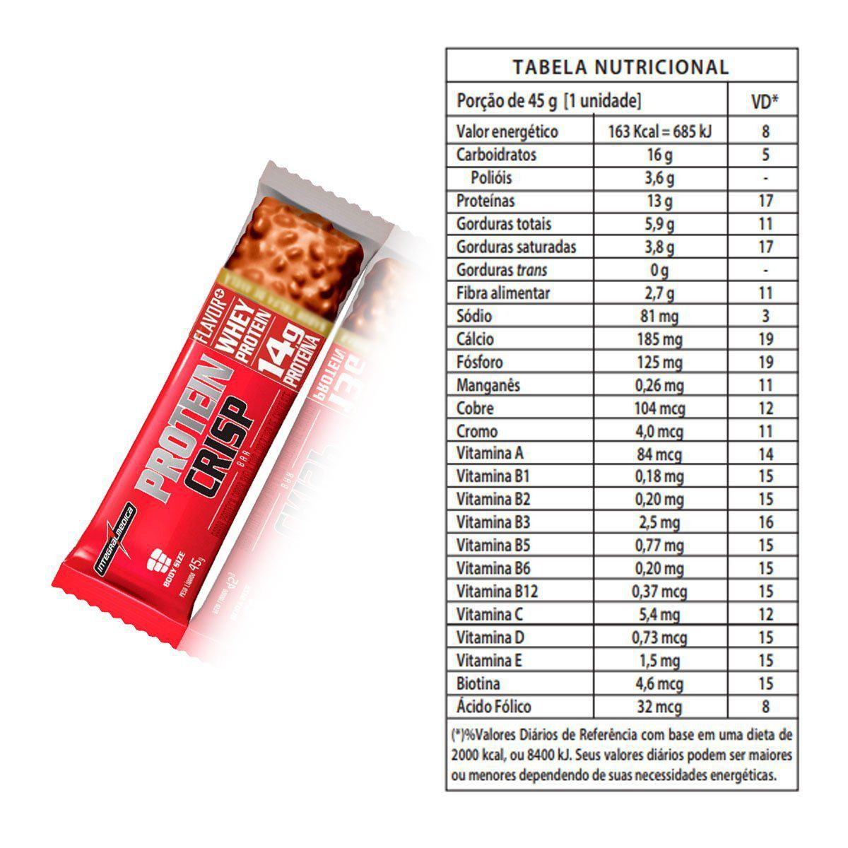 Combo 4x Caixas Protein Crisp Bar Sabores 12 unidades 45g - IntegralMedica