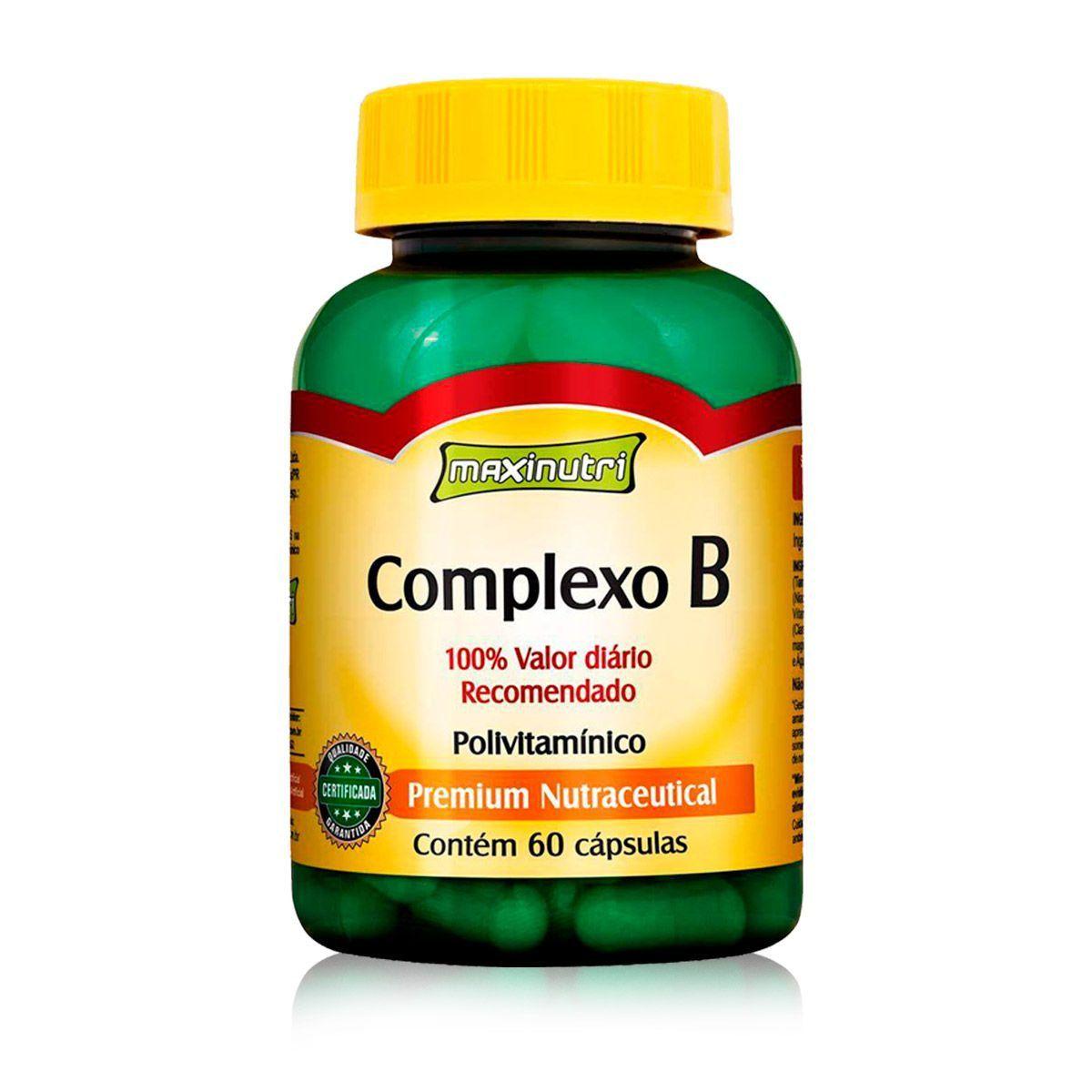 Complexo B 250mg 60 Caps - Maxinutri
