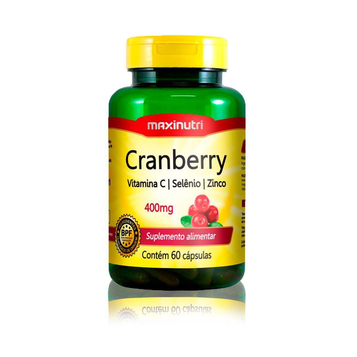 Cranberry Antioxidante com Vitamina C e Zinco 60 Caps - Maxinutri