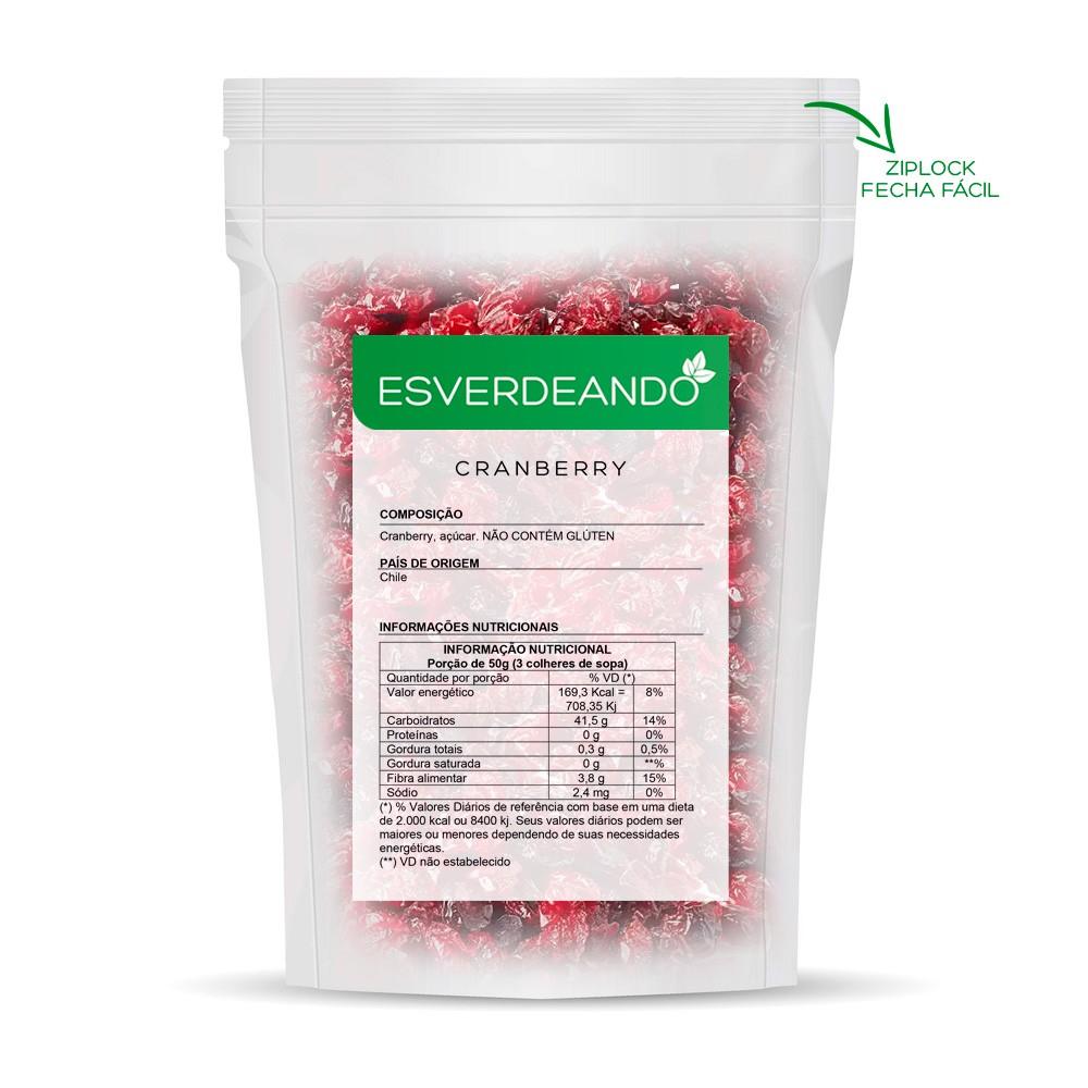 Cranberry Importado 1kg - Esverdeando