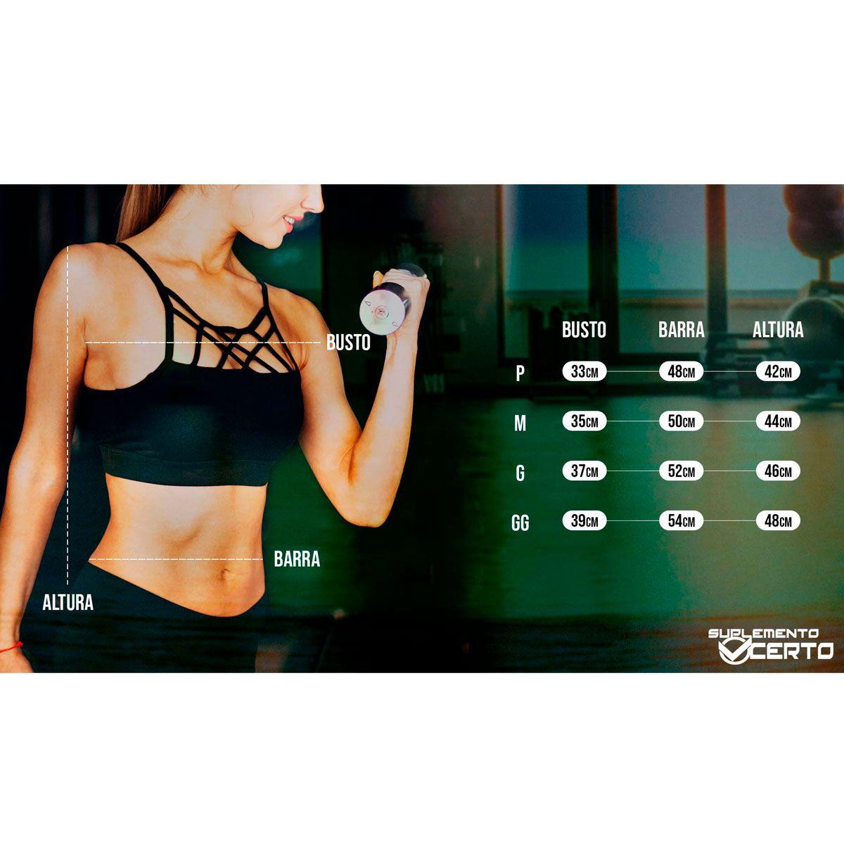 Cropped Fitness Hardcore Nutrition Gelo Mescla - Suplemento Certo