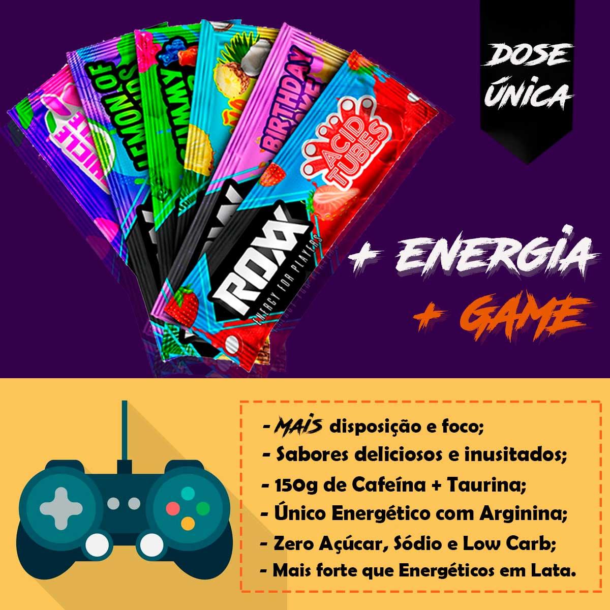 Display Roxx Energy Drink Chicle Battle 20 Sticks - Roxx