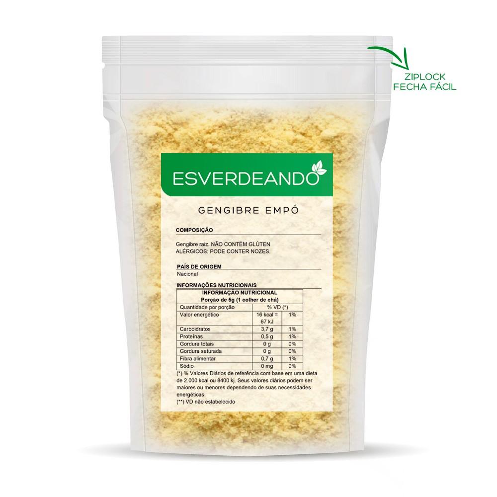 Gengibre em Pó 1kg (Granel) - Esverdeando