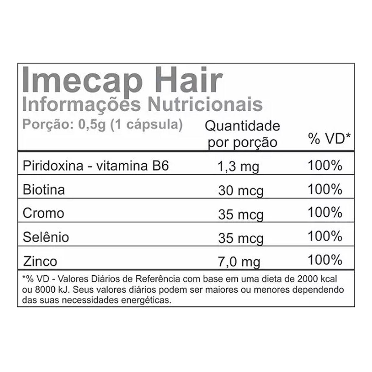 IMECAP Hair 60 Cápsulas - Divcom