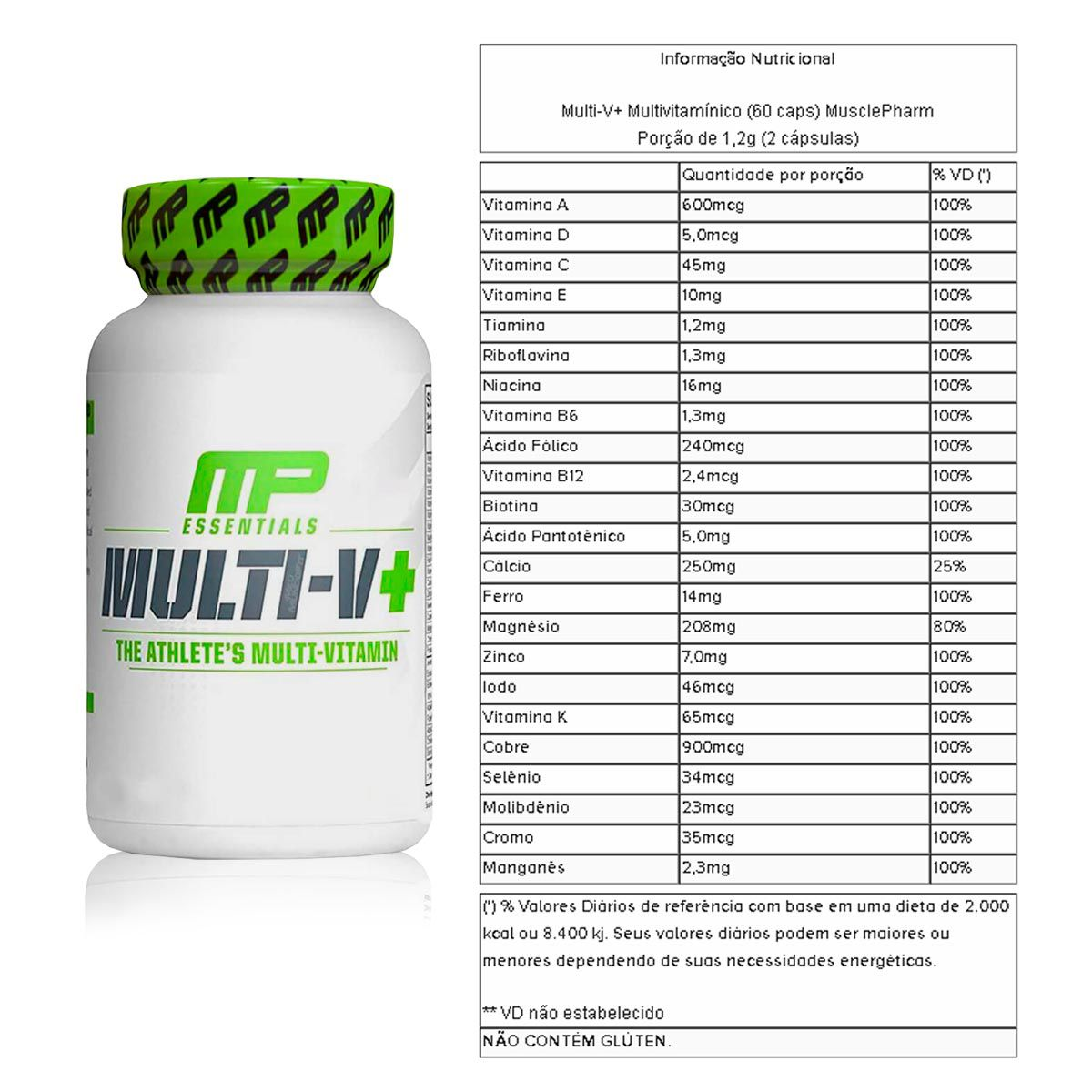 Kit BCAA 240 Cápsulas + Mult-V Multivitaminico 60 Cápsulas + Coqueteleira - Muscle Pharm