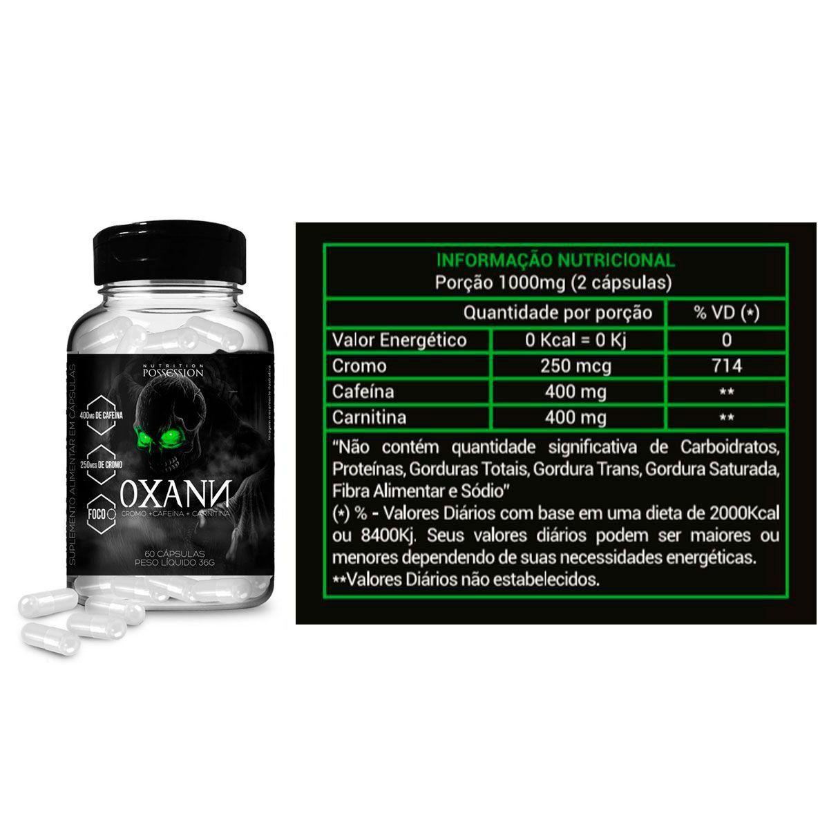 Kit Emagrecedor Oxann 60 Caps + Regata Cavada + Coq - Possession Nutrition