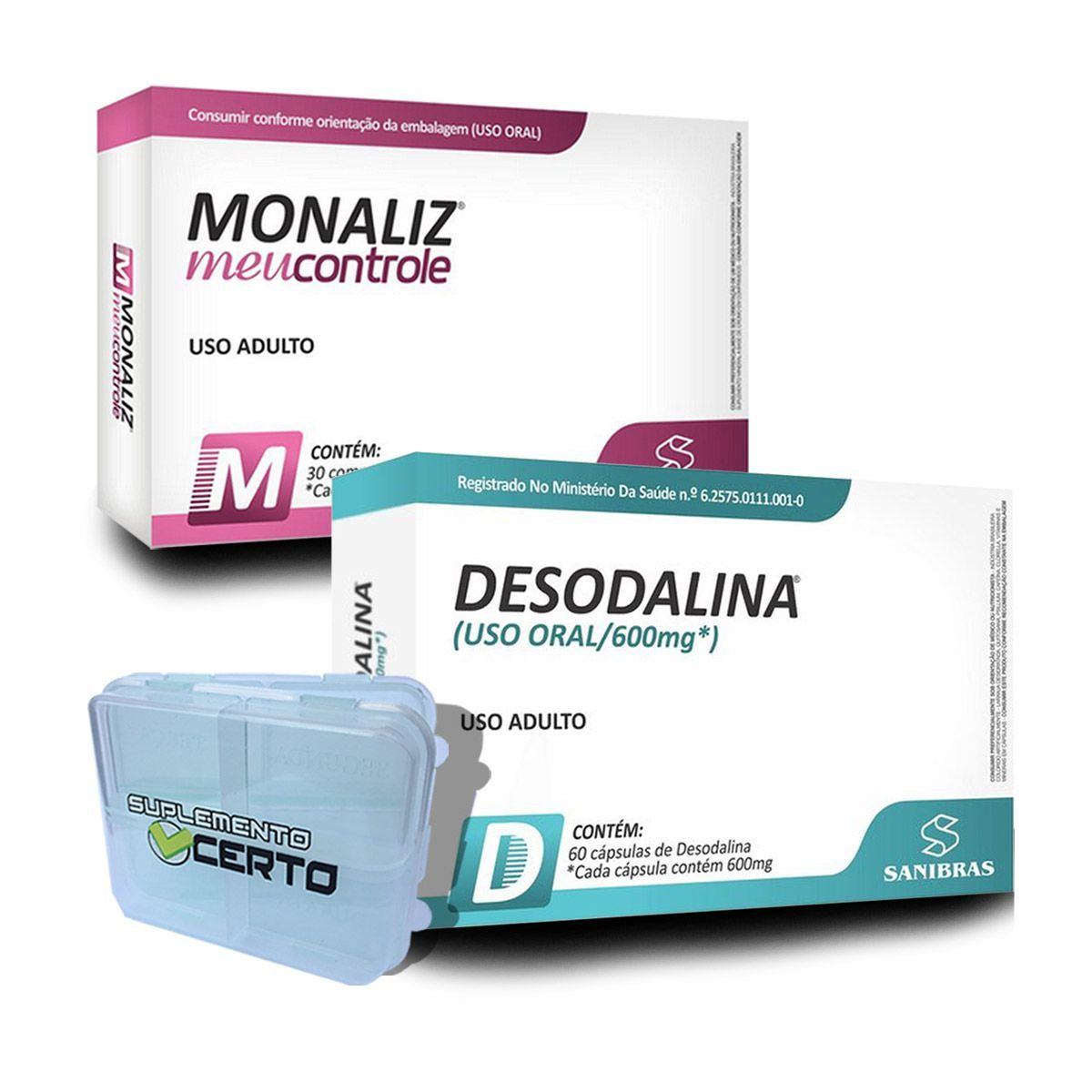 Kit Emagrecimento Desodalina 60 Cápsulas + Monaliz 30 Comprimidos - Sanibras