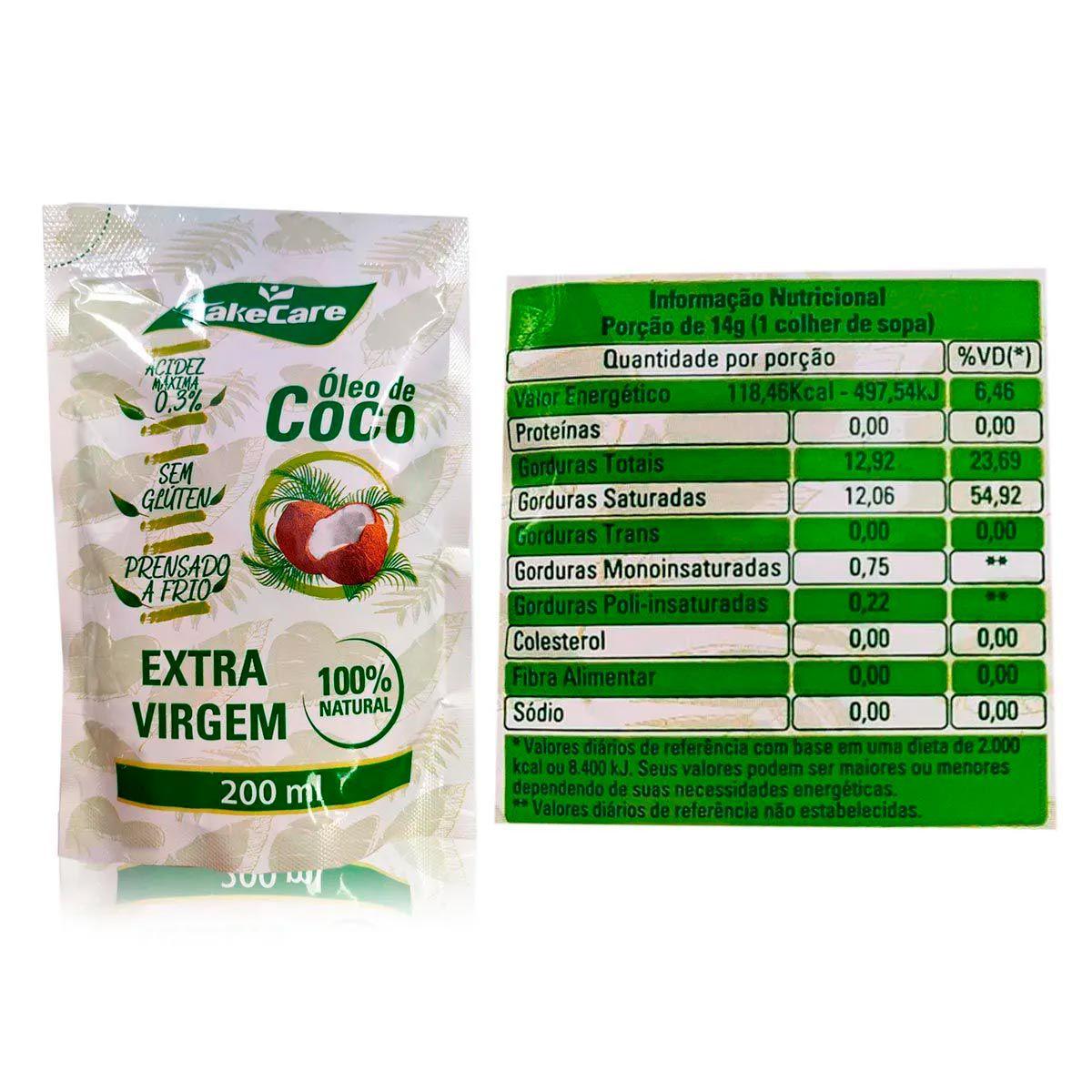 Kit Óleo de Coco Extra Virgem 3,2L + 3x Óleo de Coco Extra Virgem Refil 200ml - Copra/TakeCare