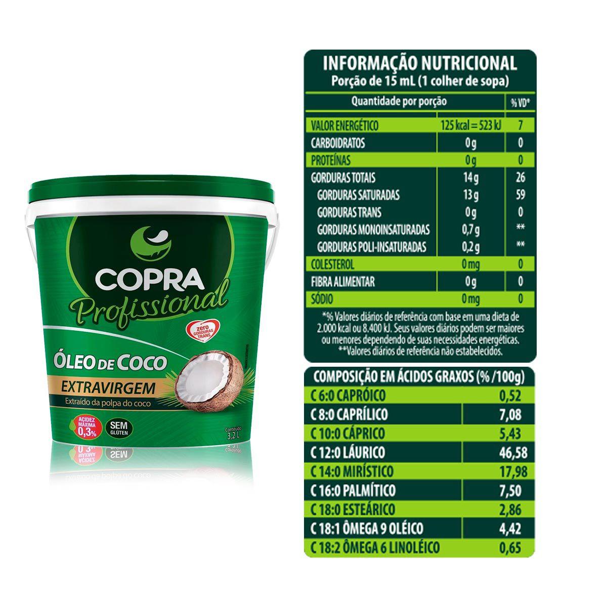 Kit Óleo de Coco Extra Virgem 3,2L + Multivitamínico 90 Caps - Copra/Dux Nutrition