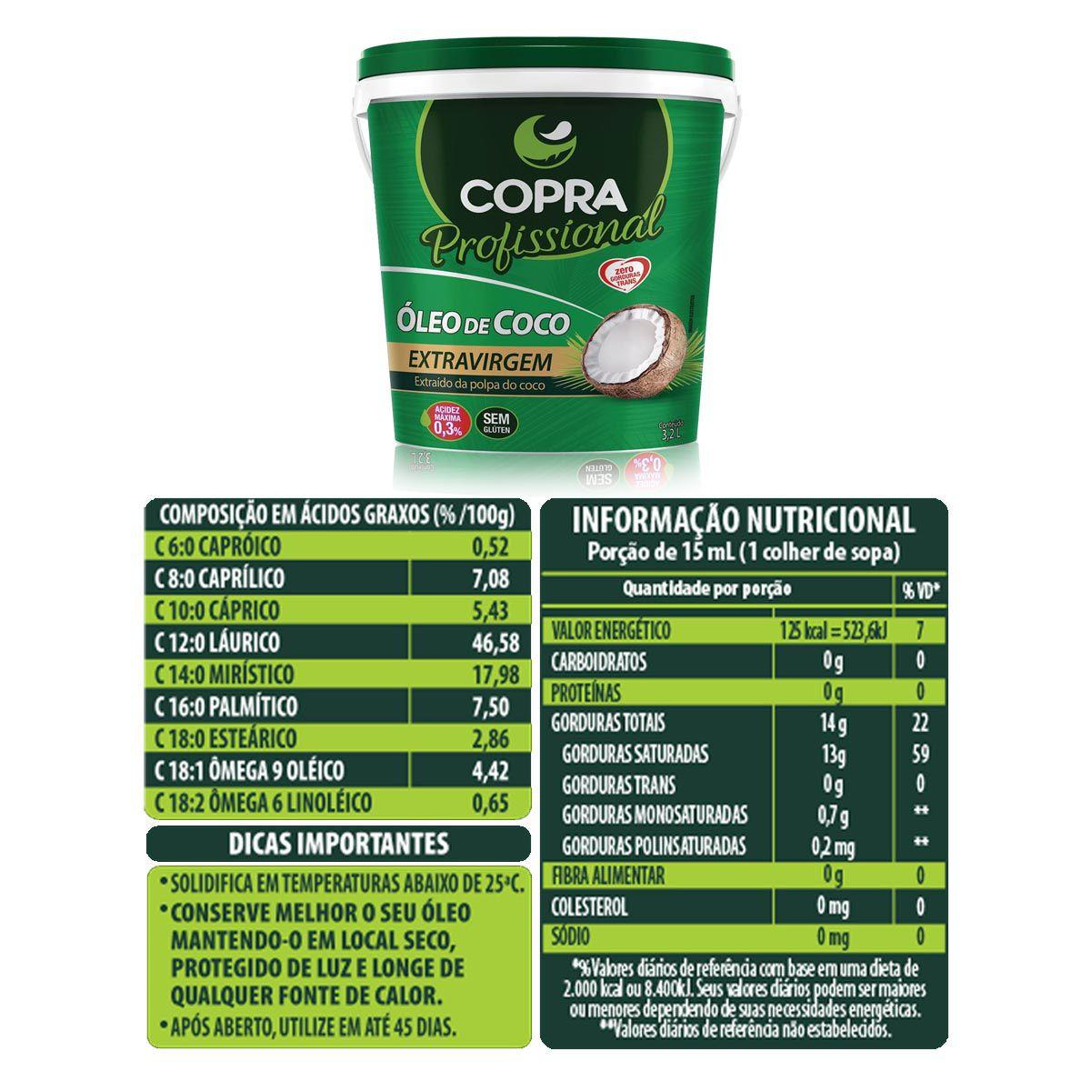 Kit Óleo de Coco Extra Virgem 3,2L + Semente de Abóbora Granel 1kg - Copra/Esverdeando