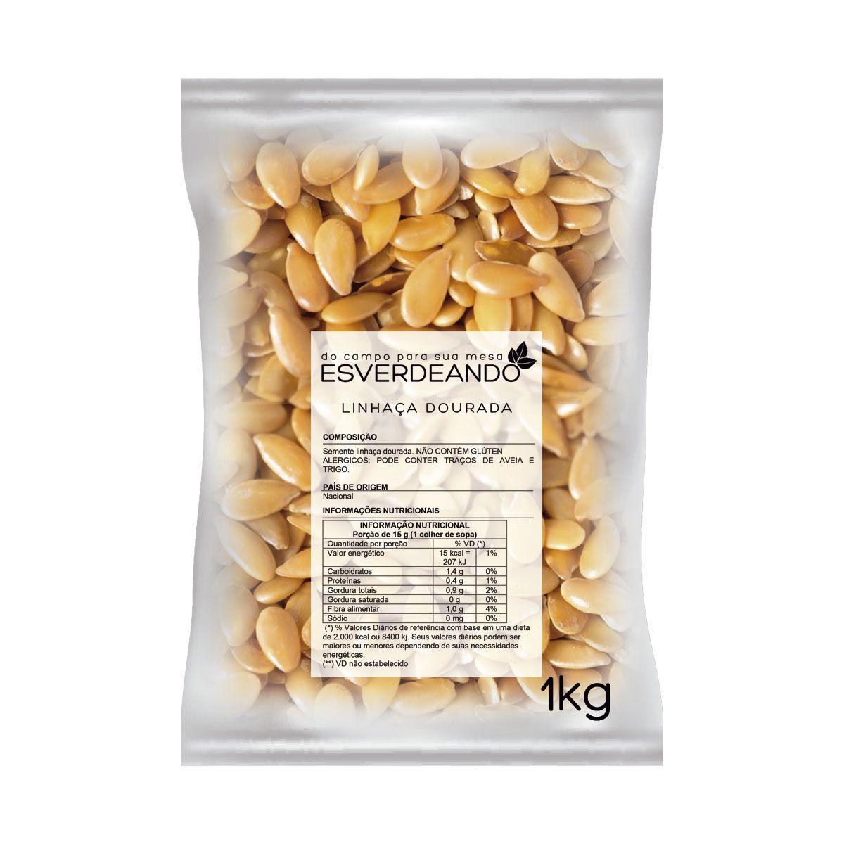 Kit Óleo de Coco Sem Sabor 3,2L + Semente de Linhaça Dourada 1kg - Copra/Esverdeando