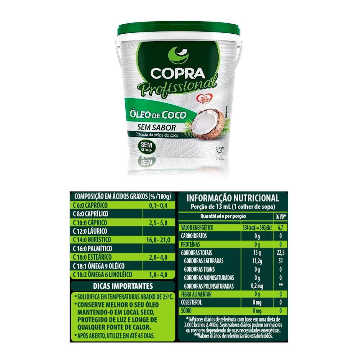 Kit Óleo de Coco Sem Sabor 3,2L + Aveia em Flocos Grossa 1kg - Copra/Esverdeando