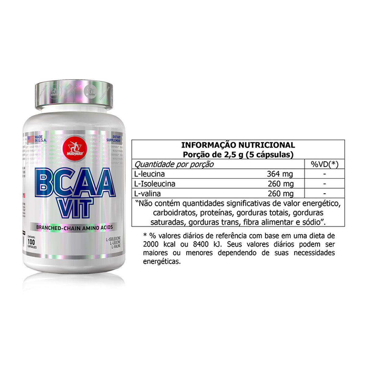 Kit Whey Complex 1kg + Glutamina + BCAA + Brindes - Midway