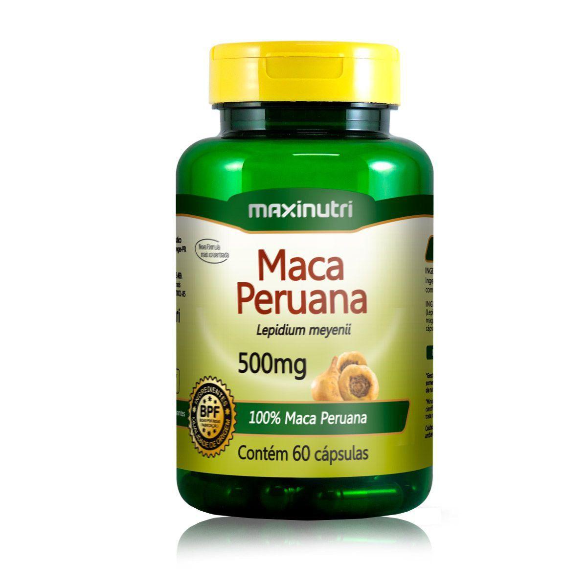 Maca Peruana 500mg 60 Caps - Maxinutri